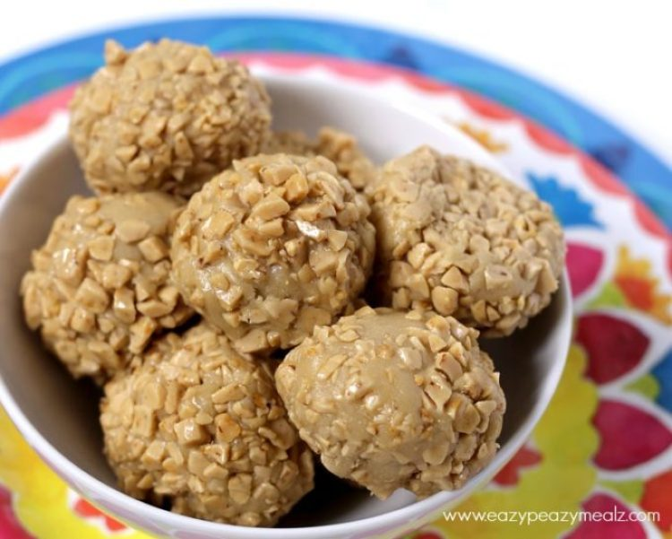 Cookie Dough Bites with toffee brickle