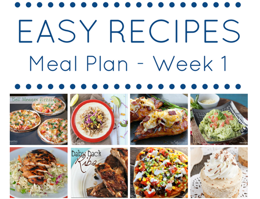 Easy Recipe Meal Plan