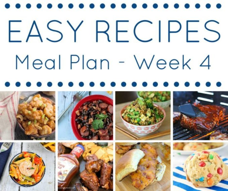 Easy Meal plan wk 4