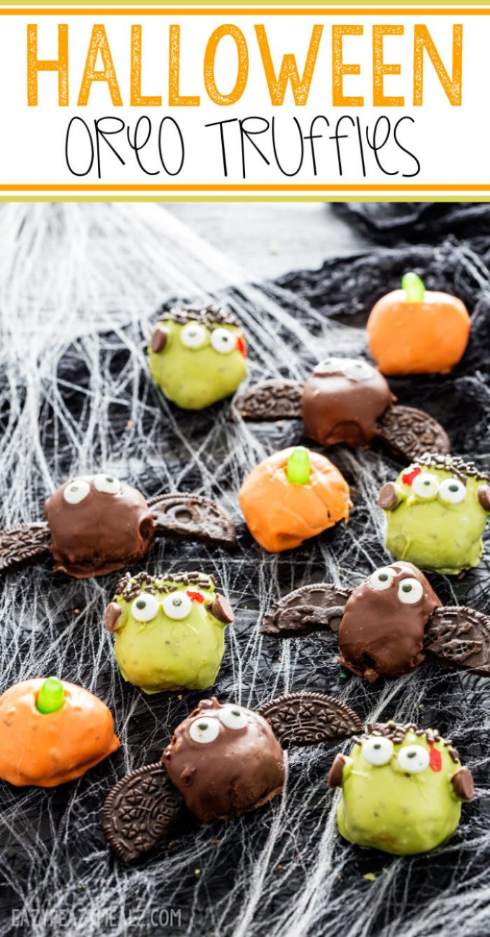 Halloween OREO truffles are cute and delicious.