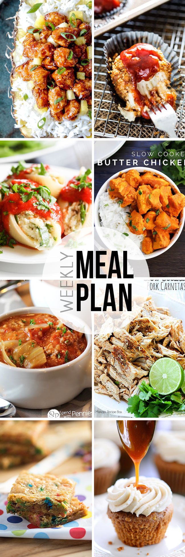 Make meal planning easy with this great plan for a week of meals. Easy Sunday Meal Plan, get your planning done, shop and prepare!