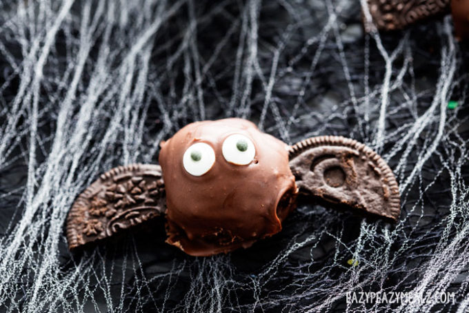 A bat OREO truffle for Halloween.
