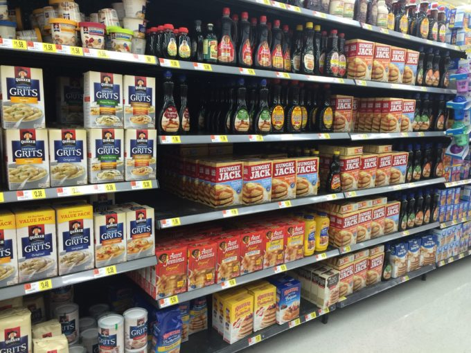 Food aisle for Aunt Jemima