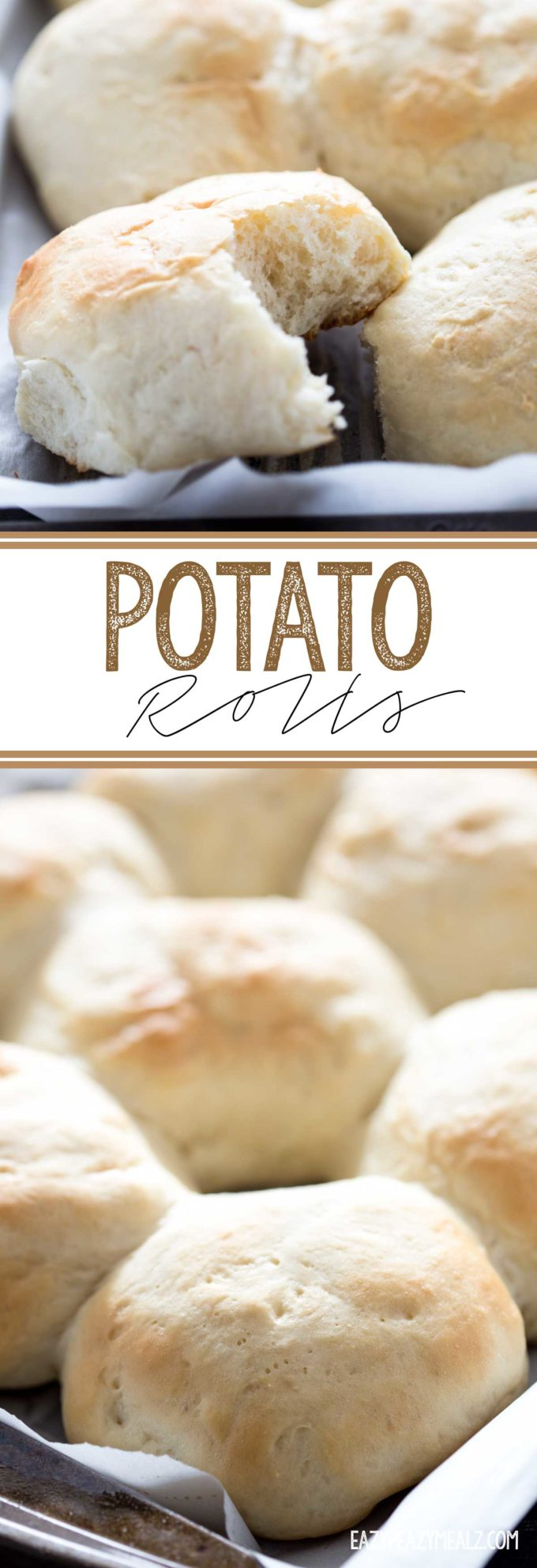 Soft, fluffy, and flavorful potato rolls made with mashed potatoes!