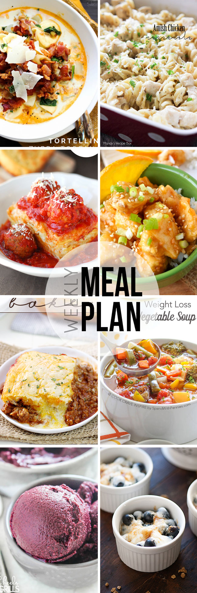 A weekly meal plan to help take the hassle out of feeding your family.