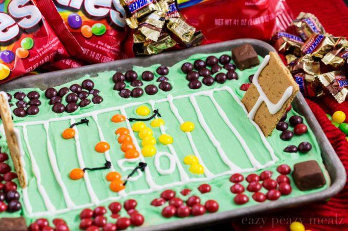 Football stadium sugar cookies