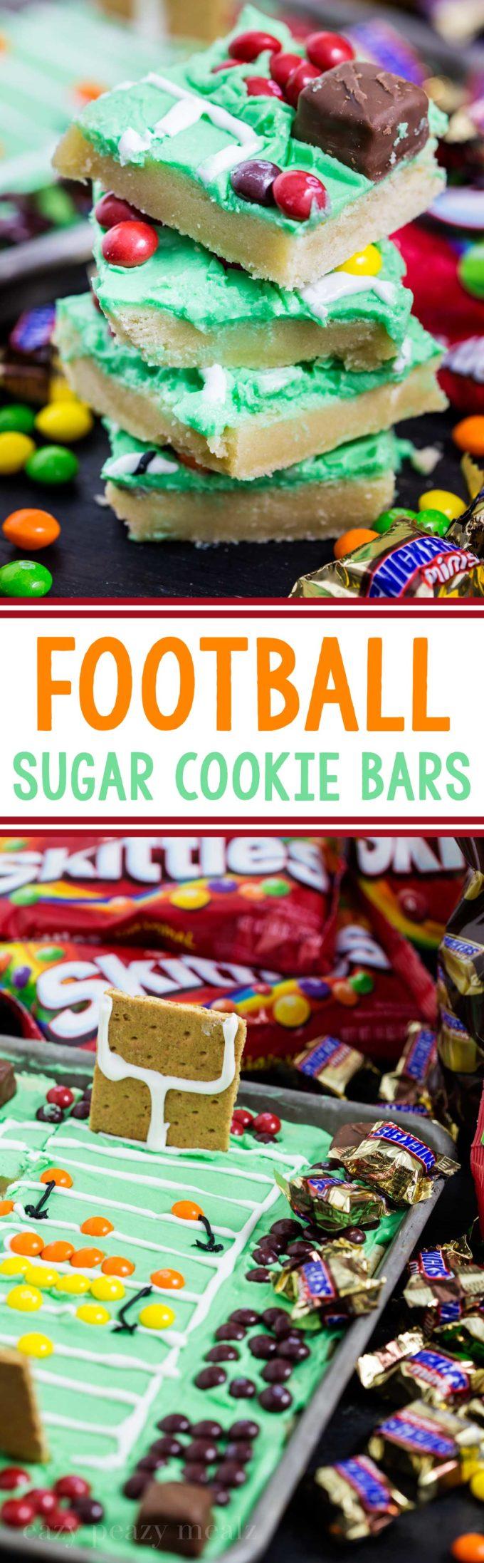 Football stadium sugar cookie bars!