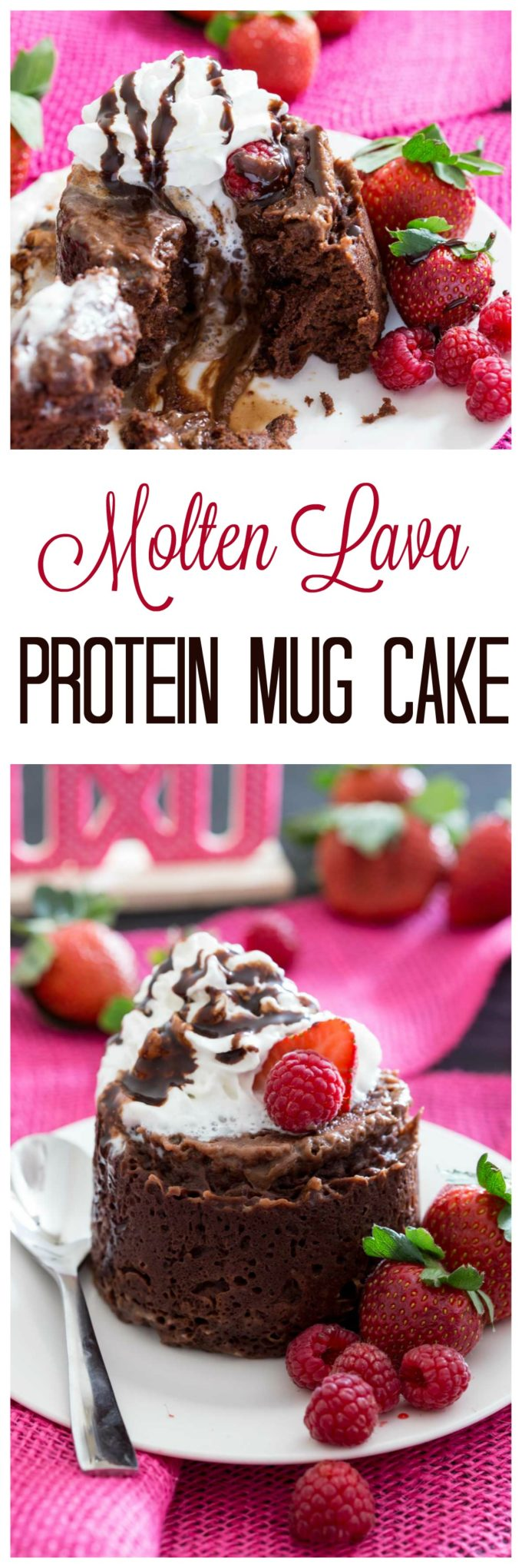 Protein packed molten lava cake you can make in a mug in the microwave