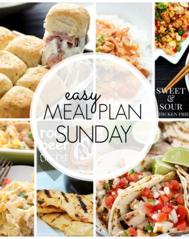 Easy Meal plan to get your set for the week