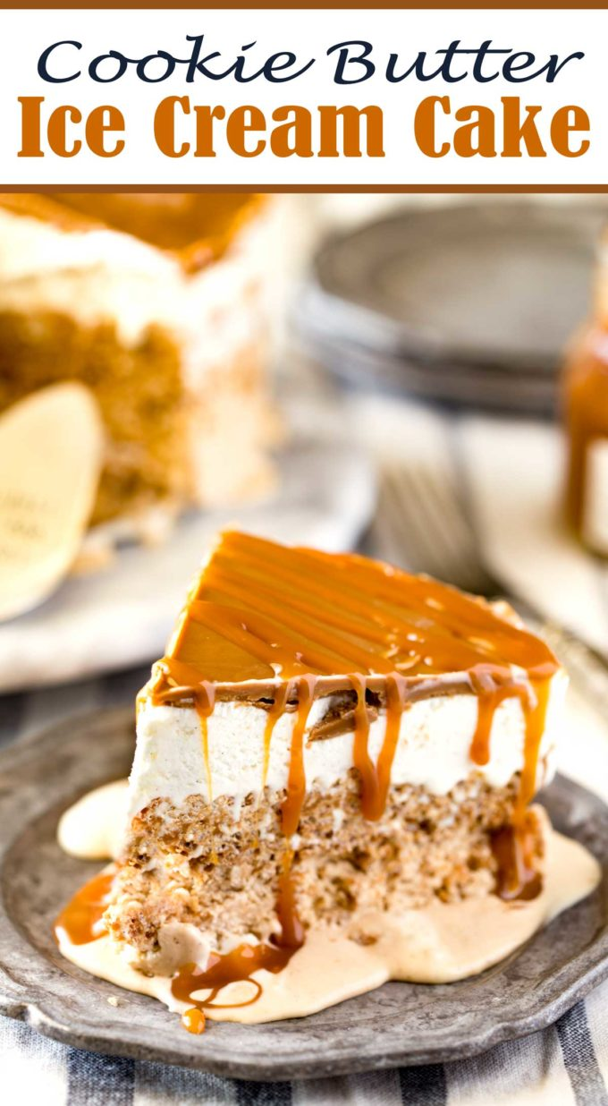 Cookie Ice cream cake recipe with caramel