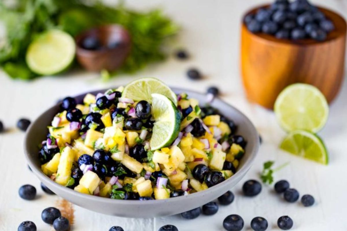 Blueberry Pineapple Fruit Salsa that is easy to make