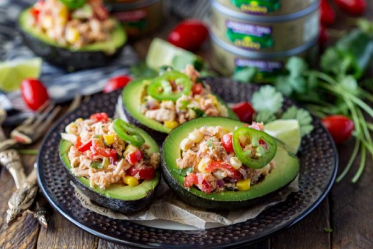 I made these for lunch the other day, and now I can't get enough of them. Tex Mex Tuna Salad Stuffed Avocados