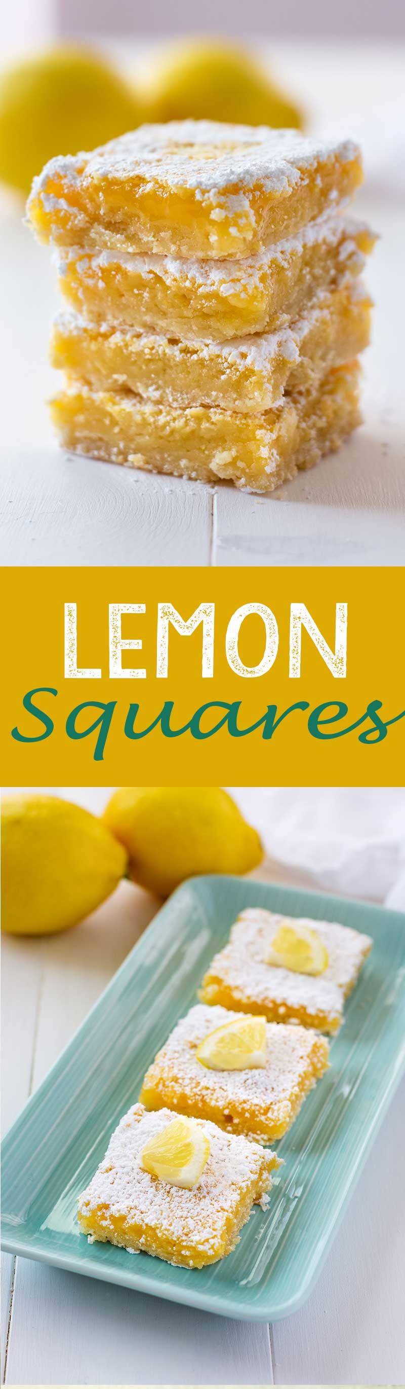These are a family favorite recipe. Lemon squares are tasty and delicious!