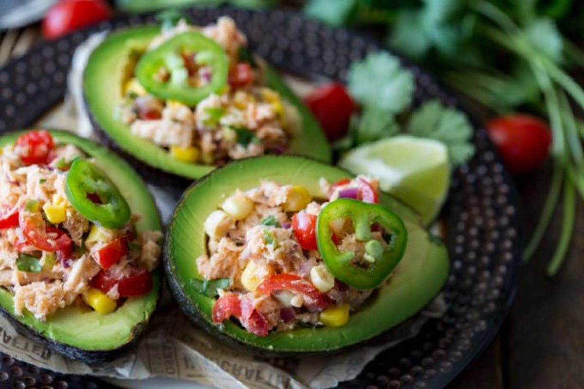 I thought I wanted tacos, then I made this Tex Mex Tuna Salad Stuffed Avocados and I realized how wrong I was. This stuff is delicious!