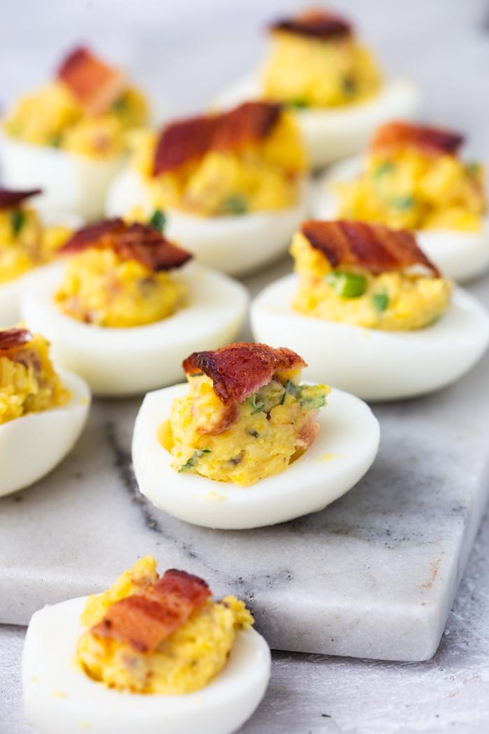 Bacon cheddar ranch deviled eggs