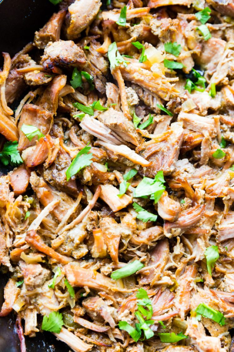 These flavorful and crispy carnitas take almost no work! They start with Smithfield pork, and are slow cooked to perfection.