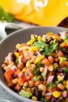 Cowboy Caviar is a bean salsa