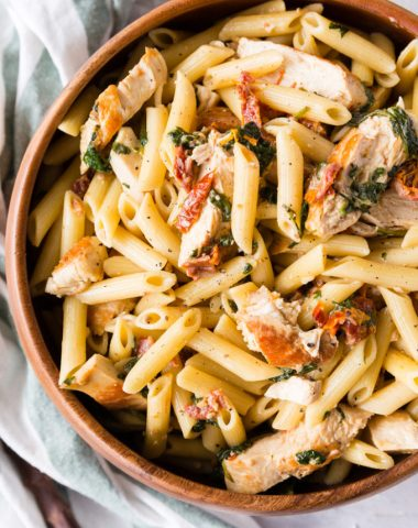 Creamy tuscan chicken penne