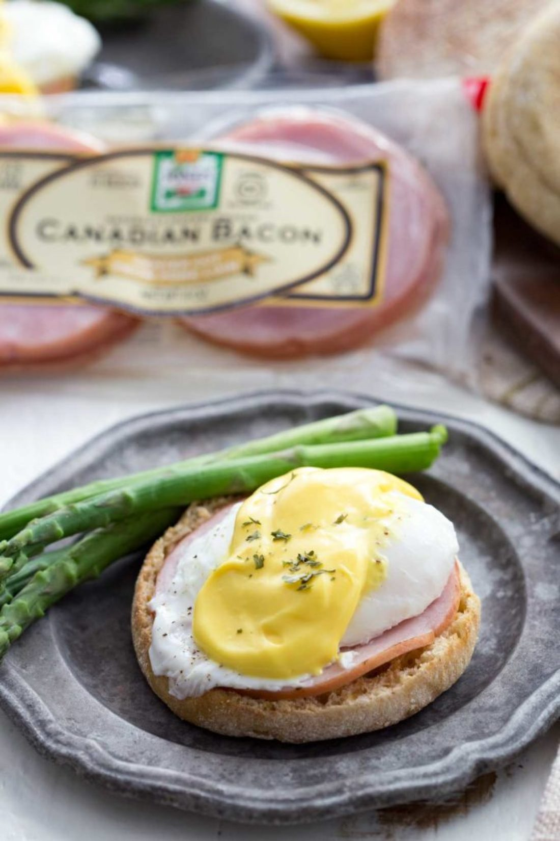 Easy Eggs Benedict, a healthy and hearty breakfast, a savory meal