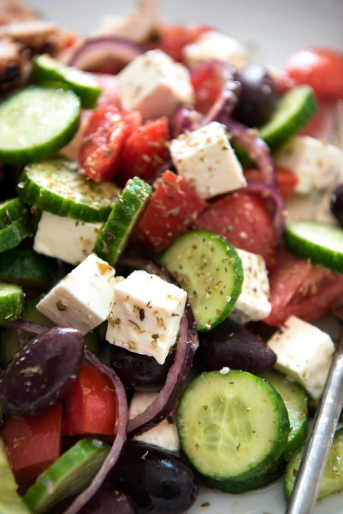 Classic greek salad for a summer meal