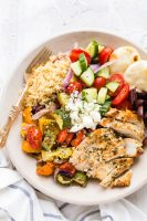 Grilled Greek Chicken Souvlaki Bowl