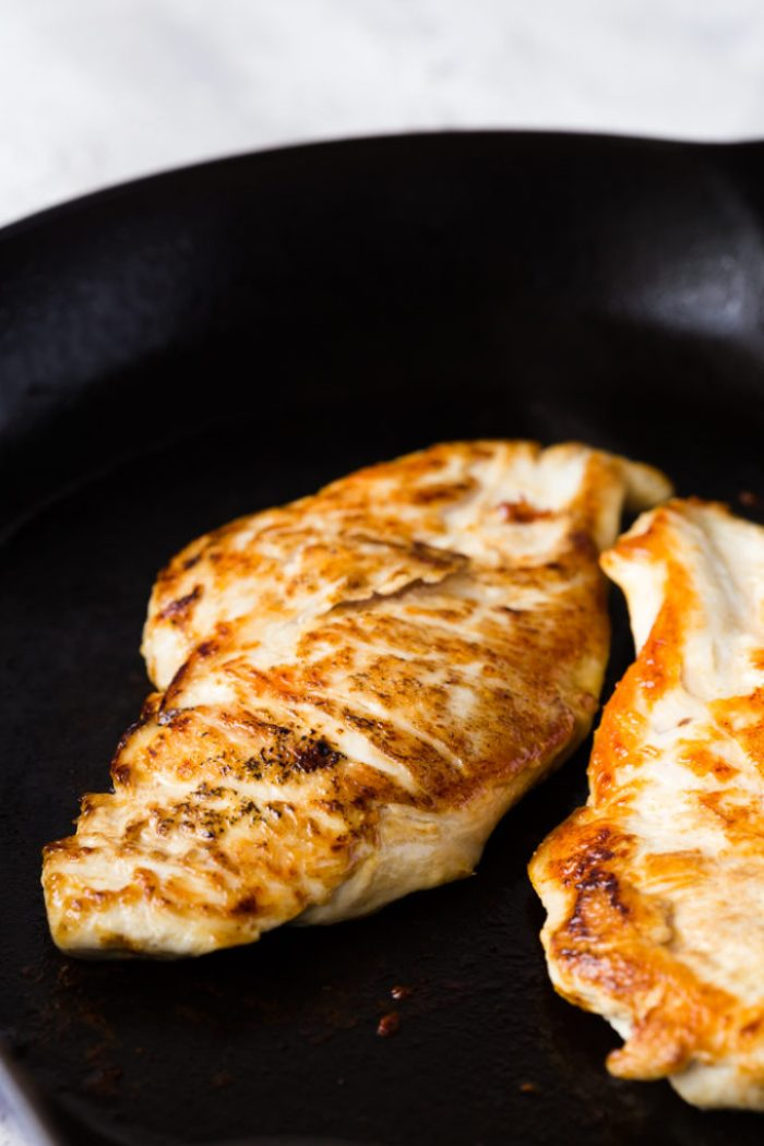 Pan seared lemon chicken