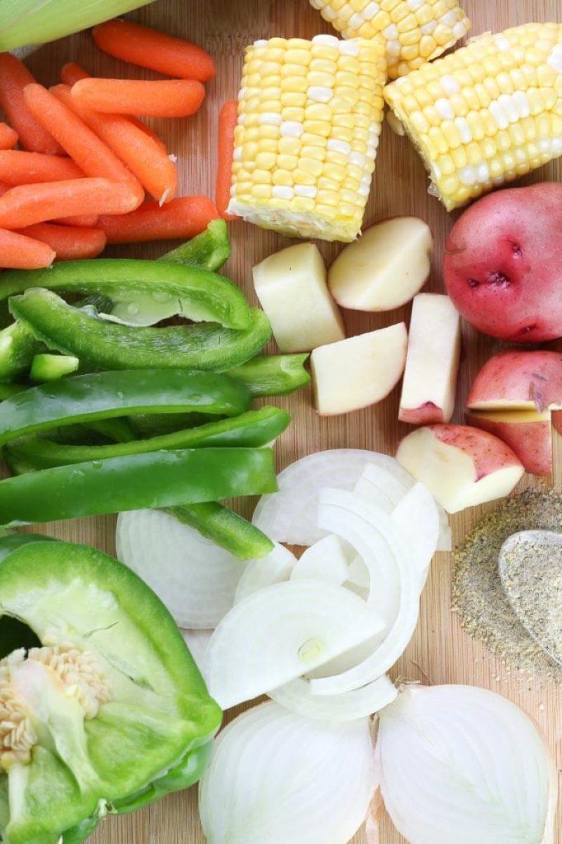 Fresh veggie packet, Hobo Potato Veggie Packets Recipe, campfire dinner, tinfoil dinner