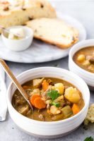 Hearty, flavorful, classic beef stew made in the pressure cooker.