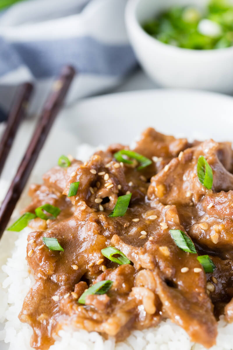 Mongolian Beef: You will never guess so much flavor could be packed into just 20 minutes of cooking time! Easy to make and beats take-out too!