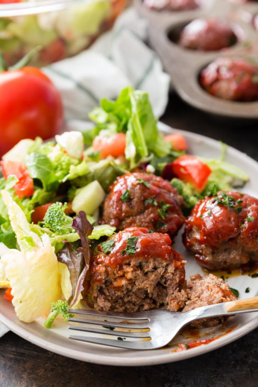 Easy Meatloaf Minis Recipe is packed with flavor, made in a muffin tin for thorough cooking and easy serving, and rivals any meatloaf out there!