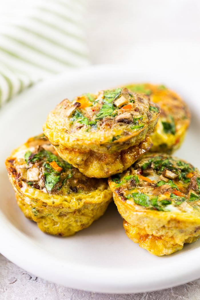 Cheese And Veggies Breakfast Egg Muffins Easy Peasy Meals