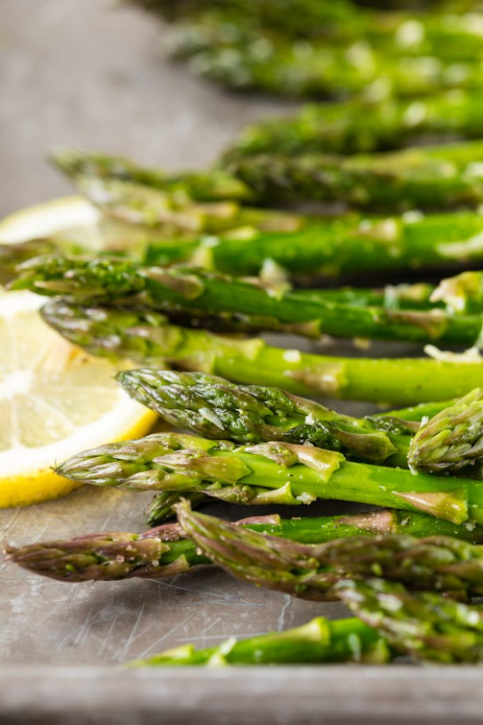 Oven roasted parmesan asparagus