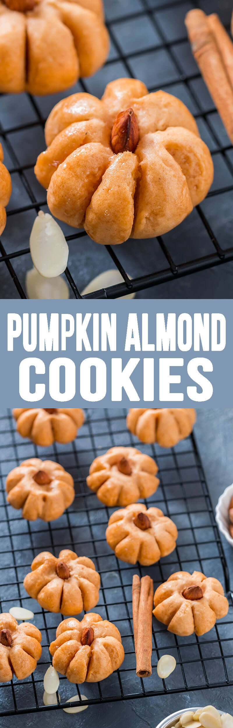 Pumpkin Almond Cookies