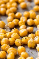 Roasted chickpeas are a flavorful snack or perfect addition to salads, power bowls, etc.
