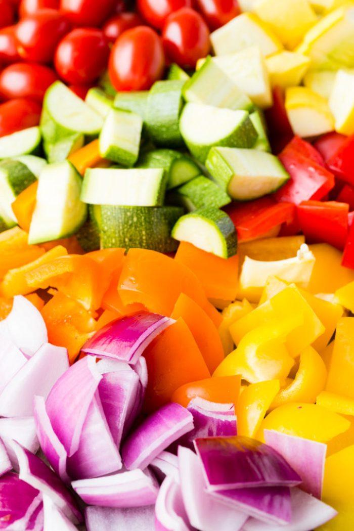 Fresh veggies, chopped