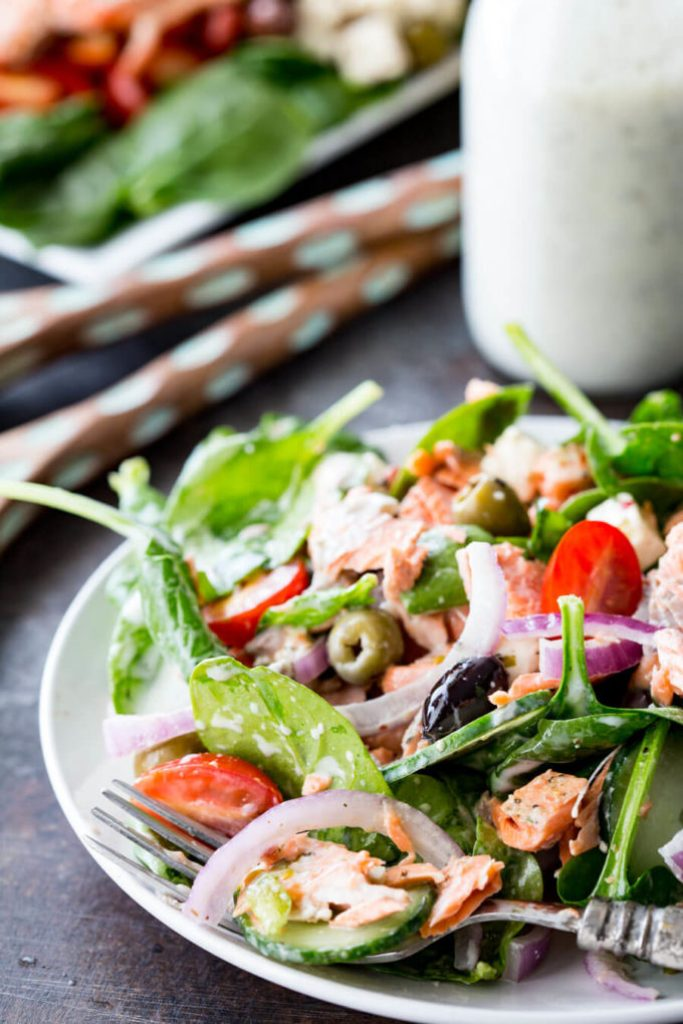 Greek Salmon Salad that is easy and tasty