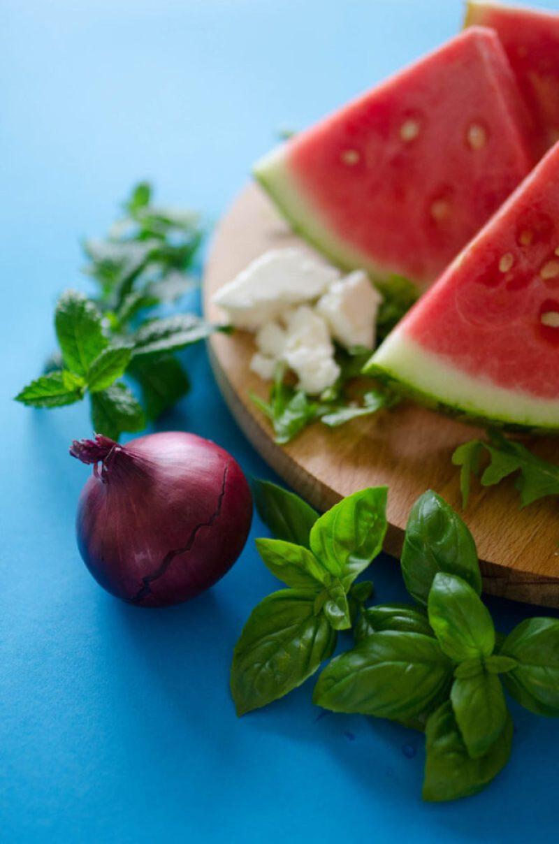Seared Watermelon Salad
