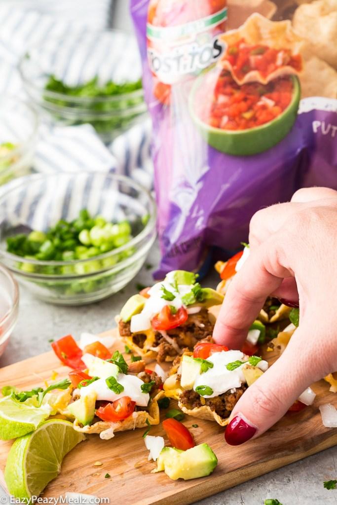 Serving Tostitos Scoops! Taco Bites