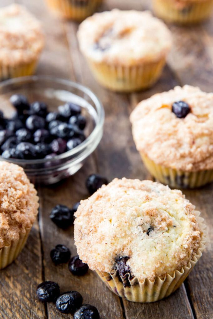 Blueberry Muffins baked to perfection