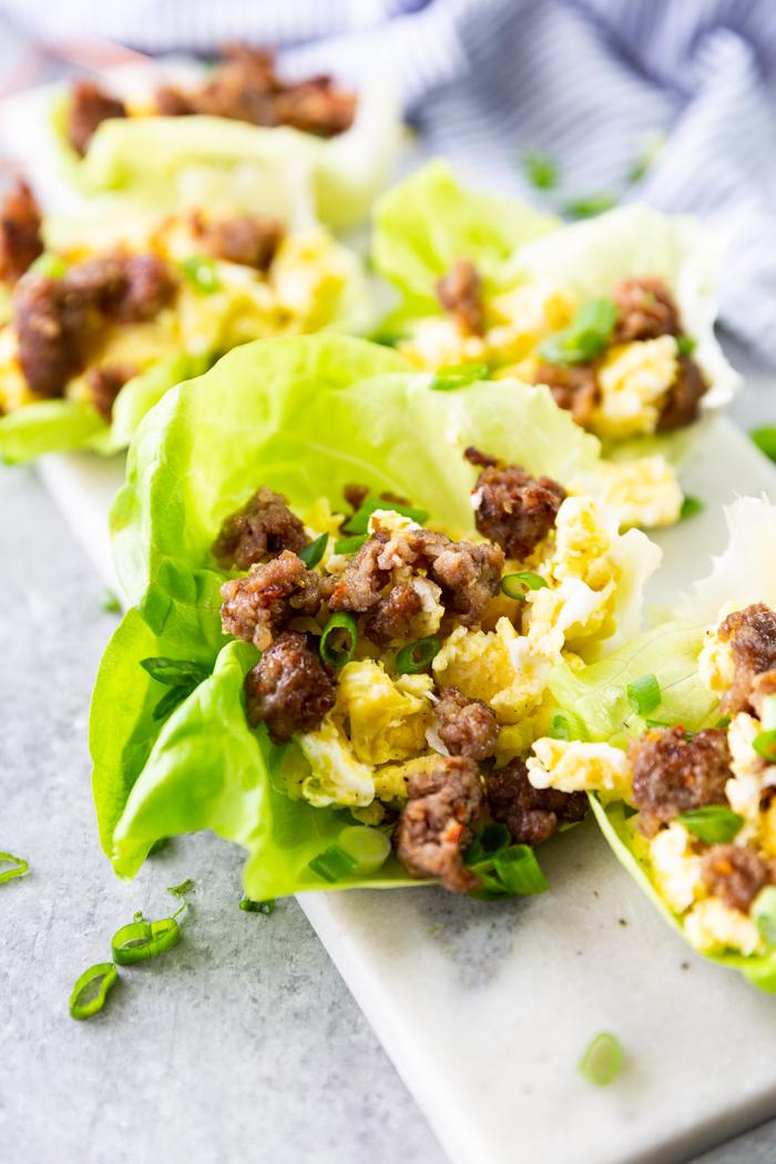 far out image of breakfast lettuce wraps