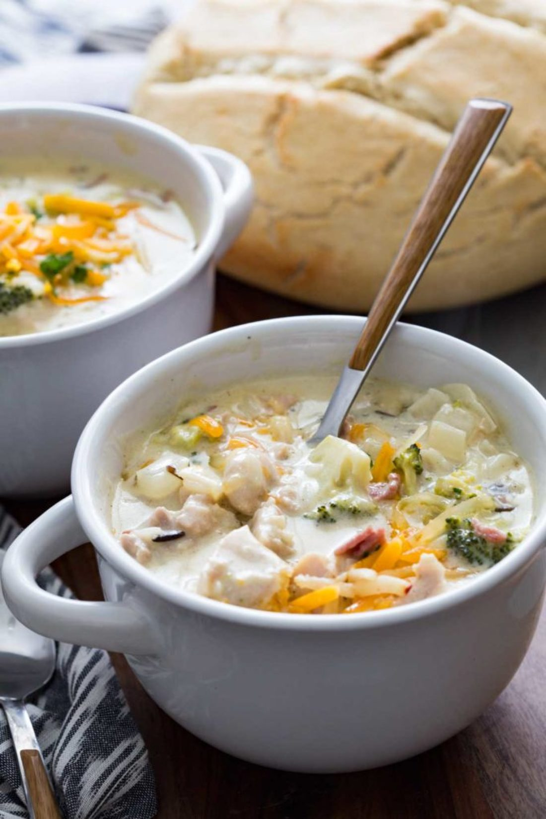 Chicken bacon cheddar and wild rice soup