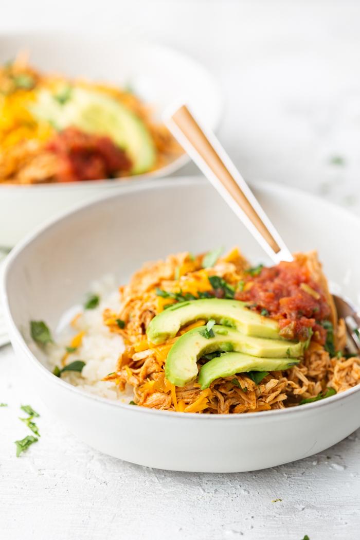 Chicken Enchiladas Bowl Keto Easy Peasy Meals