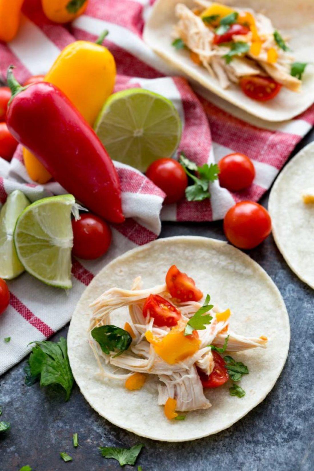 Easy Mango Habanero Chicken Tacos