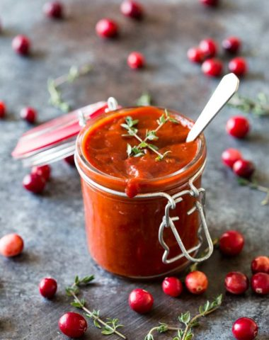 Easy cranberry BBQ sauce that is great on leftovers, or used as an appetizer on meatballs.