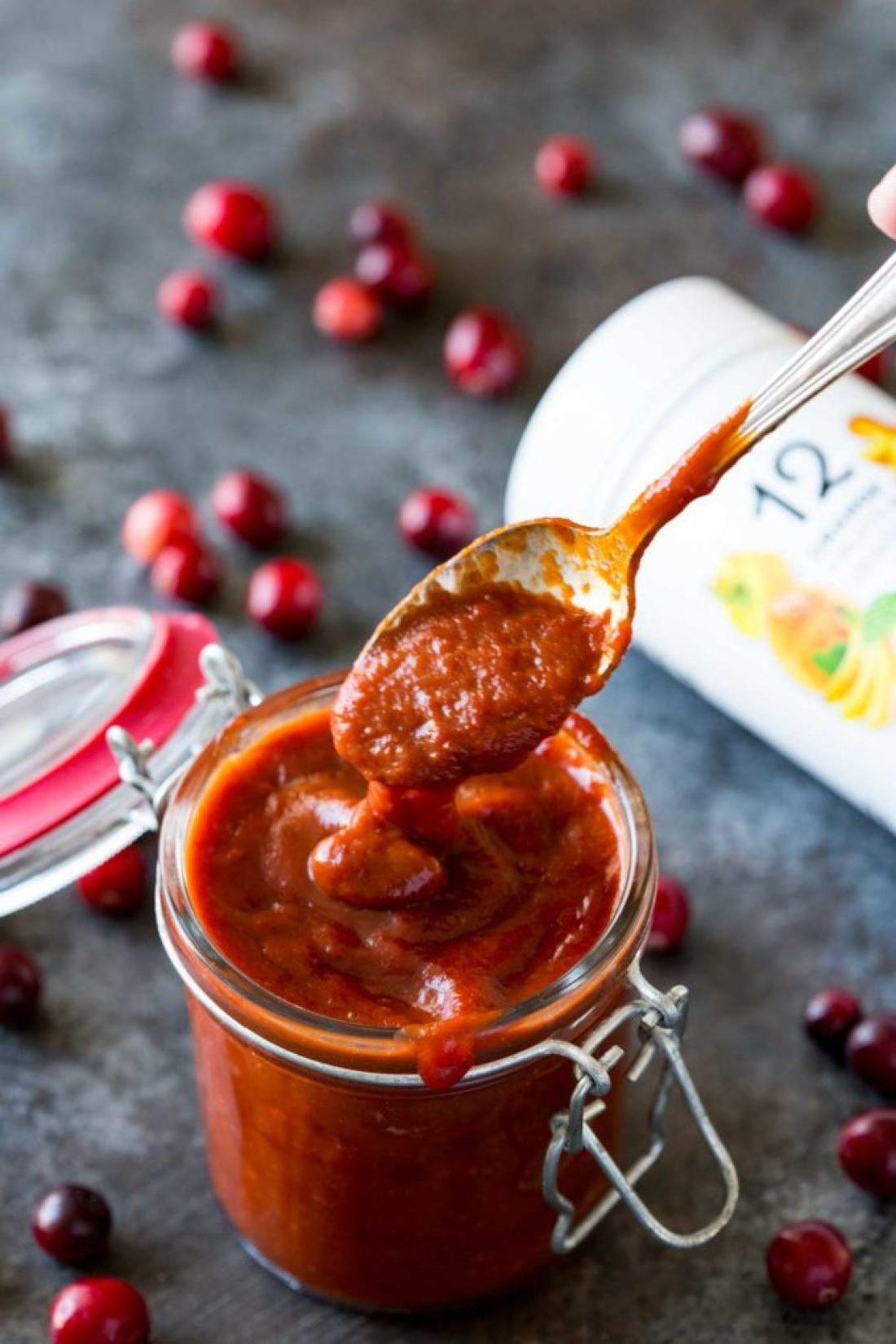 Cranberry bbq sauce is ideal for chicken, shrimp, and beef.