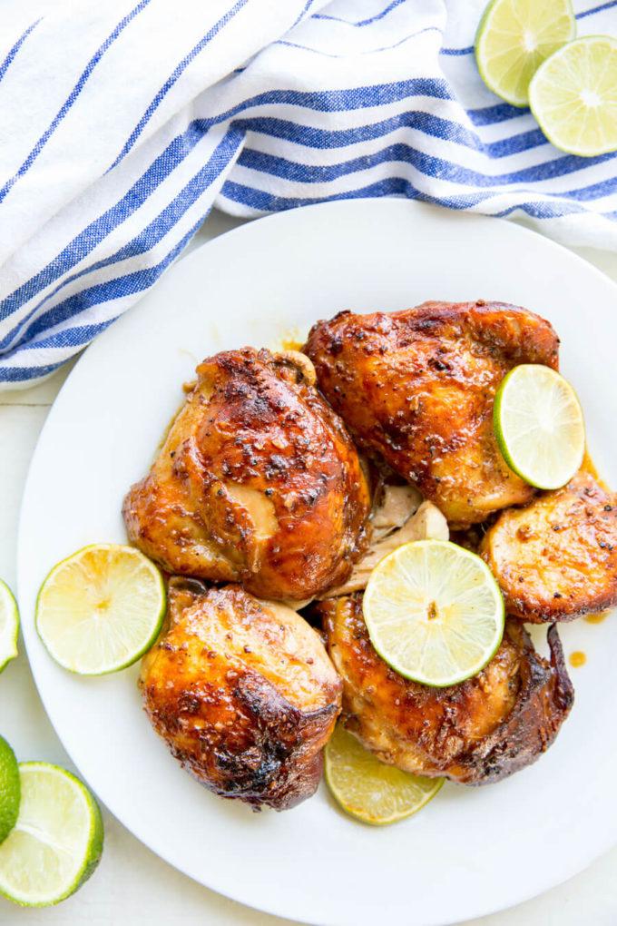 Easy Garlic Lime Chicken- Crock Pot - Easy Peasy Meals