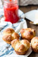 No knead dinner rolls are the perfect addition to dinner, even a holiday dinner like Thanksgiving.