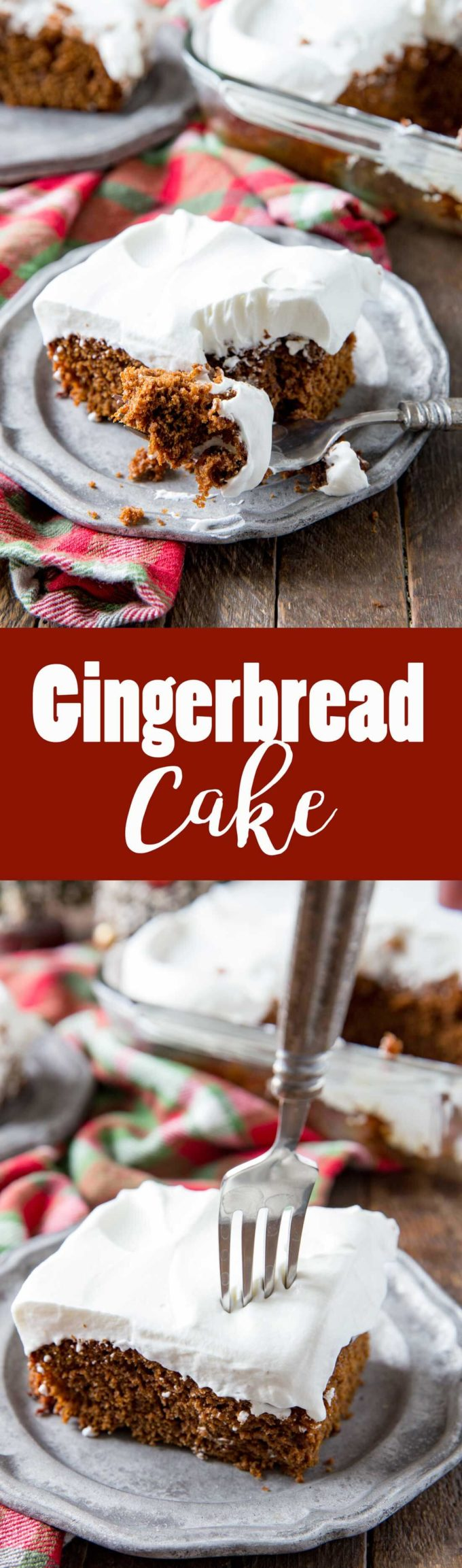 Rich, spicy, delicious gingerbread cake, perfect for celebrating the holidays