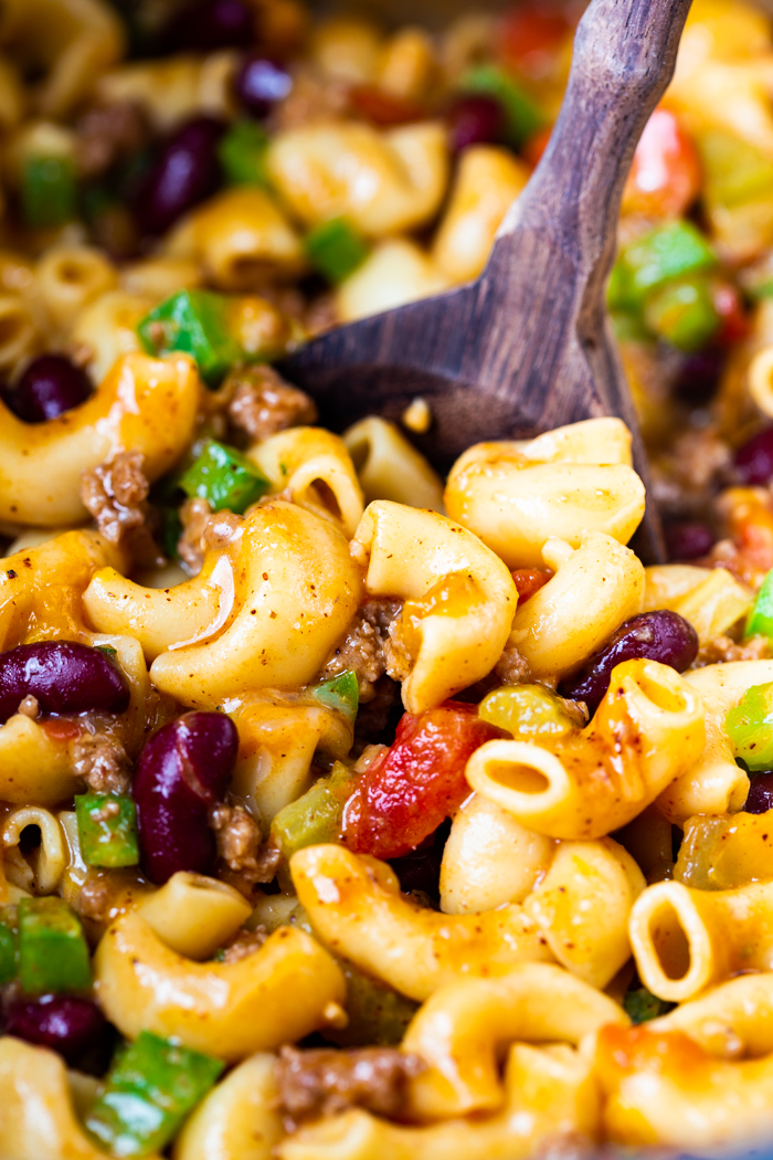 Instant Pot chili mac is a homemade comfort classic food that combines chili and mac and cheese.
