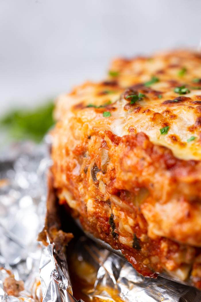 Instant pot lasagna is a perfect lasagna